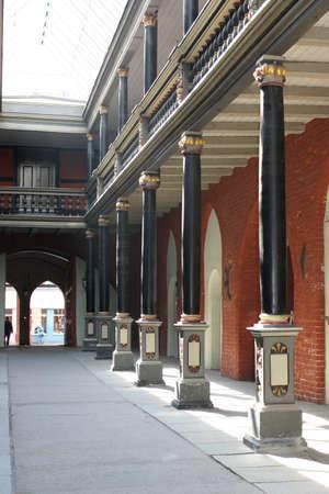 portico: Portico of the church Stock Photo
