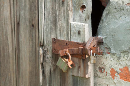 conclude: Locks on the door of a barn