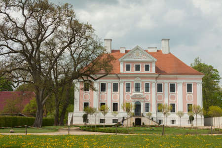 gro: Schloss Gro? Rietz with garden and tree Editorial