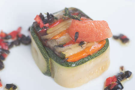palatable: Zucchini pie with tomato, spices and herbs