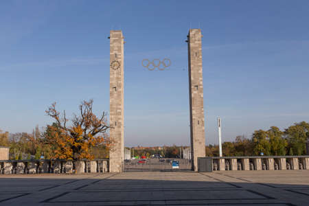 olympic stadium: Entrance of the Olympic Stadium in Berlin Editorial