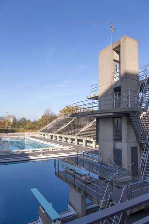 olympic stadium: Diving and water basins in the Olympic Stadium in Berlin Editorial