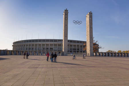 olympic stadium: Olympic Stadium with a large square in front