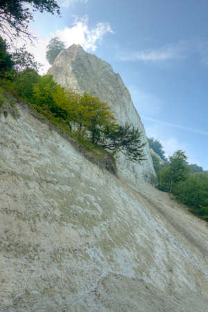 king chair: limestone cliffs of the king chair from the beach Stock Photo