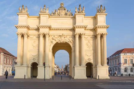 front gate: Brandenburg Gate with street in front
