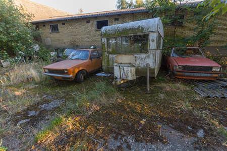 Dilapidated garden of a house in Denmark, Langeland