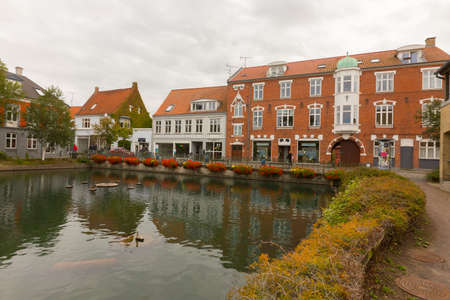 transom: Overlooking a small pond in the center of Svendborg, Denmark