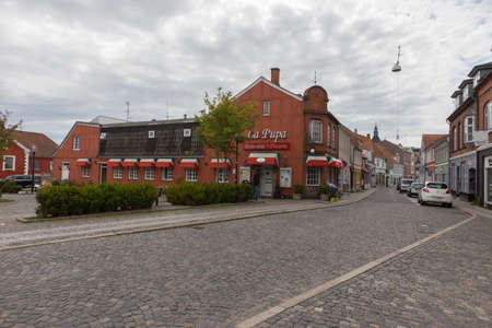 pupa: The restaurant La Pupa in downtown Svendborg, Denmark Editorial