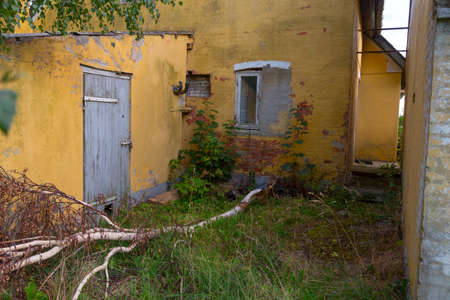 inoperative: Building parts of an abandoned farm in Tryggelev, Denmark