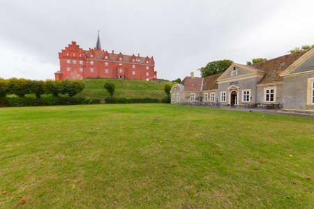 castles needle: Castle and outbuildings in Tranekær