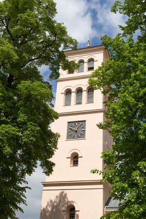 totaled: Bell tower of the Protestant church Liebenwalde