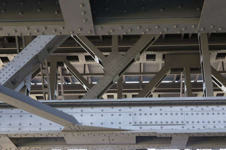 struts: Steel structure of the old Ship lift of Niederfinow Stock Photo