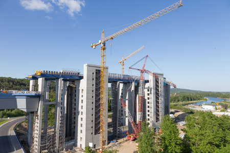 ship lift: Site of the new Ship lift in Niederfinow Stock Photo