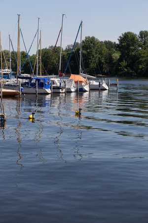 buoys: Two buoys in front of the marina on the Havel