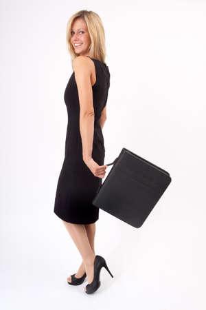 Hurl: Young woman swinging the bag while walking