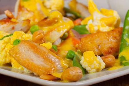 chicken fillet: Chicken fillet with meat fibers in detail