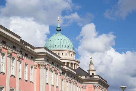 totaled: Dome of the St. Nicholas Church over the new city palace