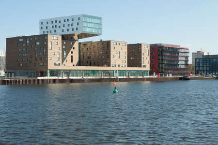 alt: Modern architecture on the river Spree Editorial