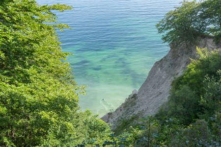 copse: Dent in the limestone cliffs of Mons Klint Moen Island