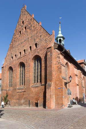 totaled: Holy Spirit Church in the city of Wismar Mecklenburg-internal Vorpommern