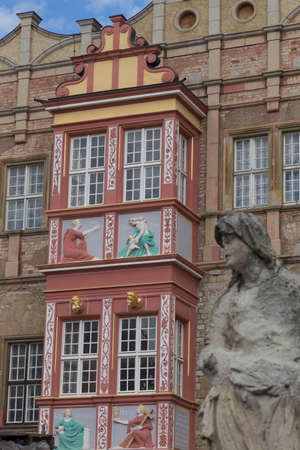 stoop: Restored Front Stoop on a ramshackle castle in Bernburg Editorial