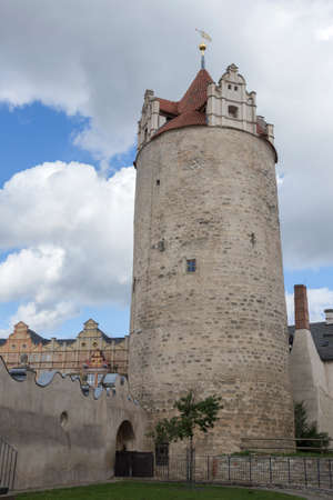 grates: Big tower at the Castle of Bernburg Saxony-Anhalt Editorial