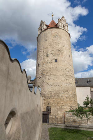 wind vane: Big tower at the Castle of Bernburg Saxony-Anhalt Editorial