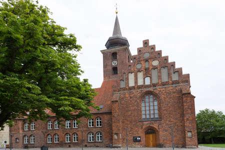 totaled: Monastery church in the center of Nykobing Denmark