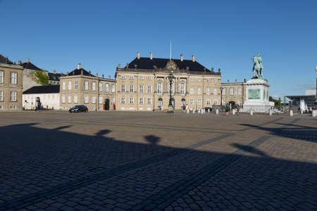 verdigris: Statue of Federico Quinto at the Amalienborg Plads Copenhagen