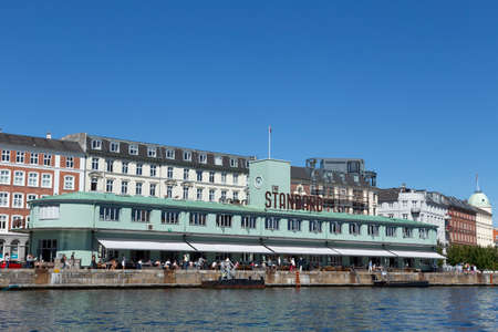 heads old building facade: The restaurant and caf The standard in the port of Copenhagen Denmark