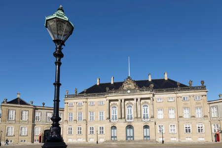 royal family: Lantern in front of the City Palace of the Danish royal family in Copenhagen