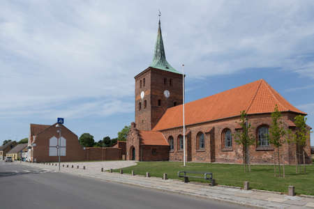 totaled: Side view of the main church in Rodby Lolland Denmark Stock Photo
