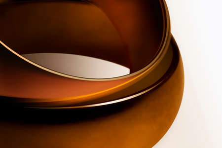 velvety: Close view of two velvety rings encrusted with gold
