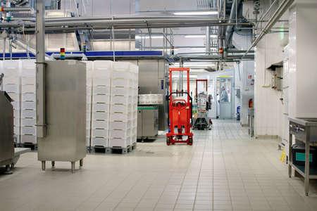 Zuivelfabriekworkshop met roestvrij staalpijpen