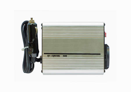 ac: Power Inverters,DC to AC from car battery isolated on a white background