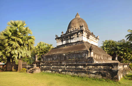 lao: Ancient sanctuary in Lao country on sunny day