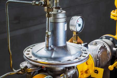 inoperative: Industrial gas pressure regulator (membrane in a boiler-house Stock Photo