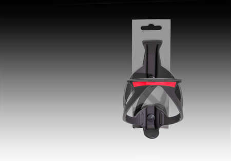 velocipede: Bicycles black  plastic water bottle clip on a gradient background