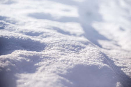 forecaster: Close view of shiny snowdrift in winter Stock Photo