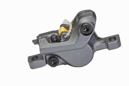 brake caliper: Bicycle hydraulic disc brake caliper  isolated on a white background