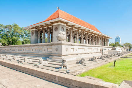 Independence Memorial Hall which was built in commemoration of the independence of Sri Lanka Stok Fotoğraf - 82419725