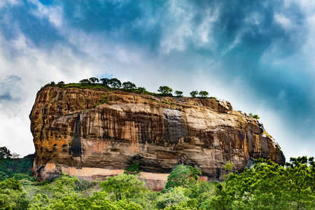 Sigiriya or Sinhagiri  Lion Rock, an ancient rock fortress located in the northern Matale District near the town of Dambulla in the Central Province, Sri Lanka.