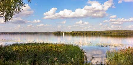 Kaunas Reservoir (Lithuanian: Kauno marios) is the largest Lithuanian artificial lake, created in 1959 by damming the Nemunas River near Kaunas and Rumšiškės