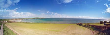 Panoramic view of Garrettstown beach in County Cork. Ireland.