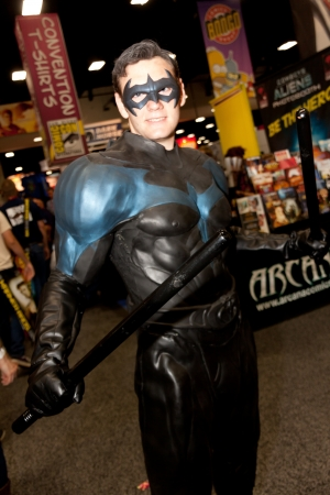 San Diego Comic Con - July 21-24, 2011. The world�s largest convention of its kind featuring media, movies, comic books, anime, entertainment, video games and more! Photo of man dressed up as Robin taken on July 23rd, 2011. Stock Photo - 14542003