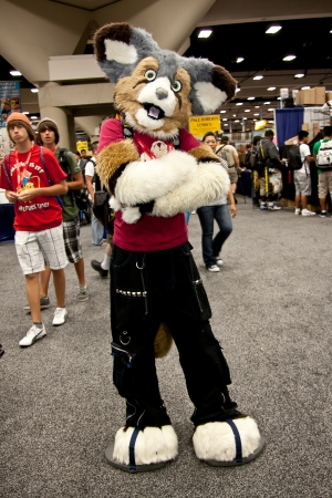 San Diego Comic Con July 21-24, 2011. The world�s largest convention of its kind featuring media, movies, comic books, anime, entertainment, video games and more! Photo of furry fox taken on July 23rd, 2011. Stock Photo - 14311802