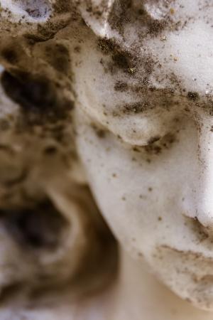 memorial cross: Primer plano de la mitad de la cara de angel s Foto de archivo