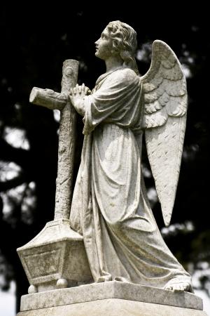 Angel looking up towards heaven