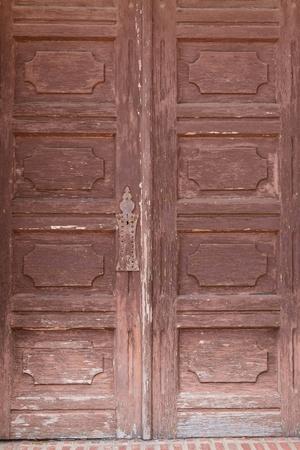 Old wooden mission door photo