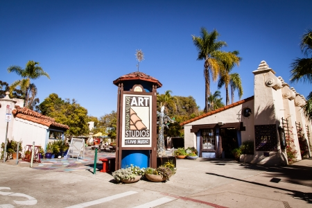 At the Spanish Village art studios in Balboa Park in San Diego, CA